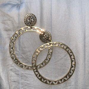 Bronze Egyptian style hoops